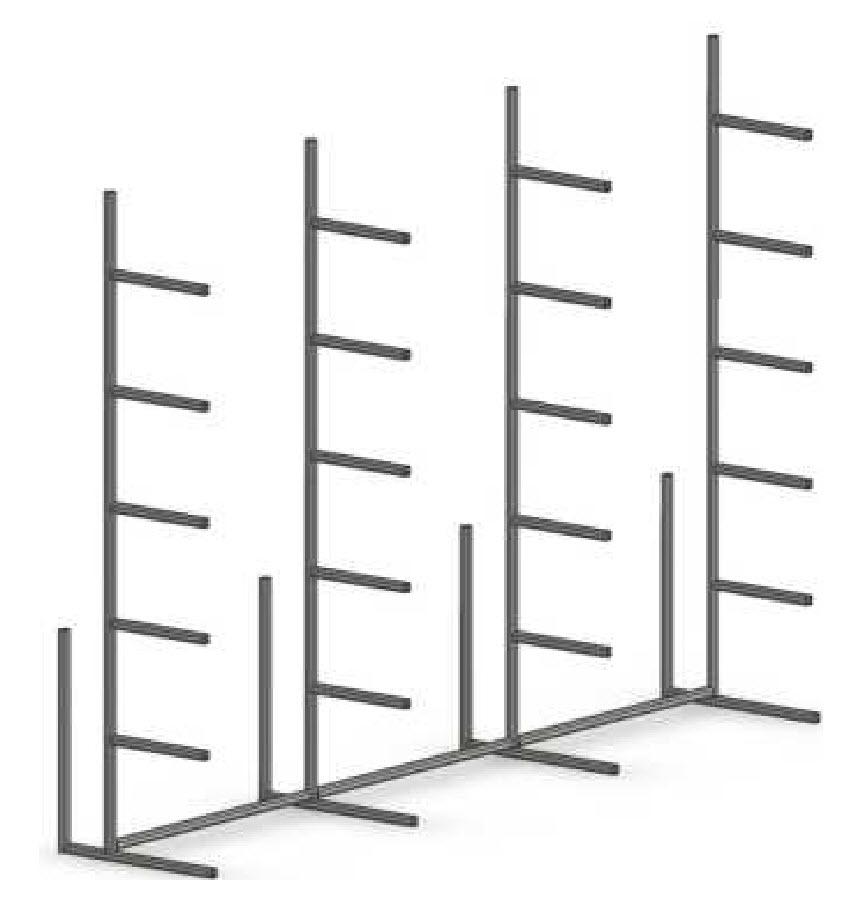 steel lumber rack