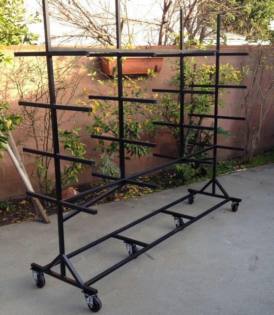 mobile lumber rack