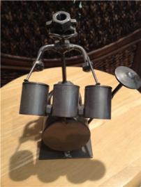 miniature drum set metal art