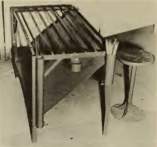 vintage welding table