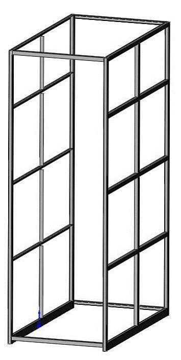 storage shelf frame