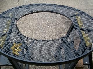 circular flat bar welded to angle iron