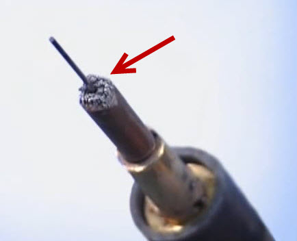 wire tip build up