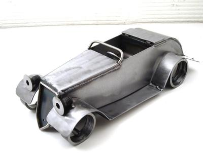 miniature scrap metal hot rod