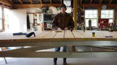 Putting Planks On The Footbridge