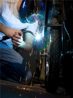 welding motorcycle forks