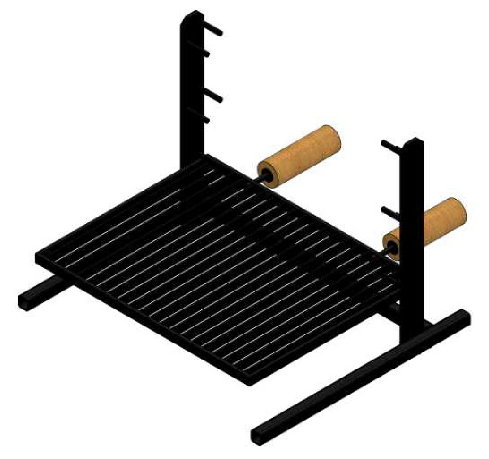 adjustable campfire grill