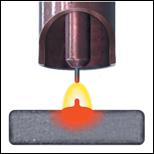 molten weld pool
