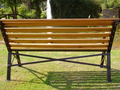 garden bench back
