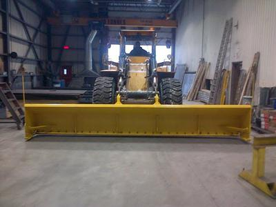 extra wide front loader plow