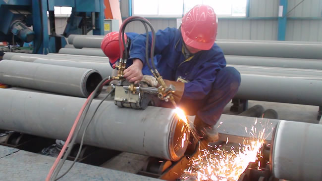 flame beveling pipe