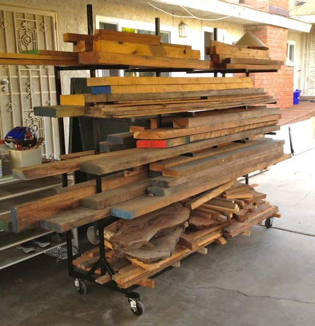 Diy plans lumber storage rack lowes pdf download lighted for Mobile lumber storage rack plans