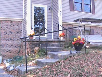 Fence Post Hand Rails
