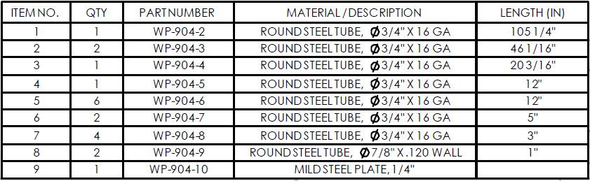 metalwork parts