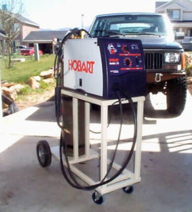 homemade welding cart