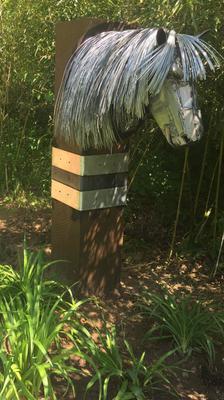 Final Horse Garden Art Resting Place