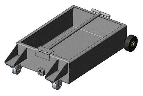 low profile oil drain pan