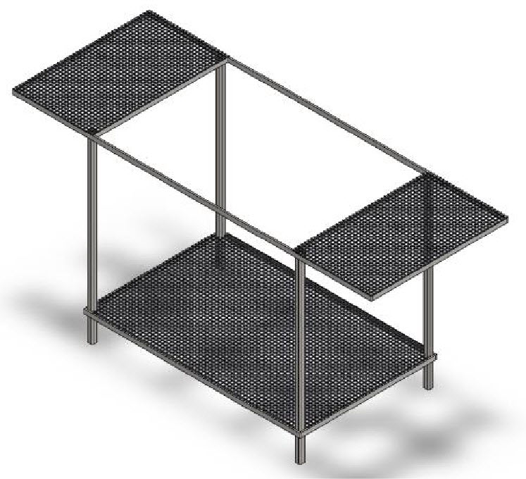 barrel grill frame