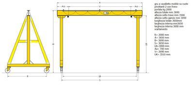 Mobile Gantry Crane Drawing