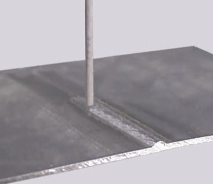 Perpendicular weld angle
