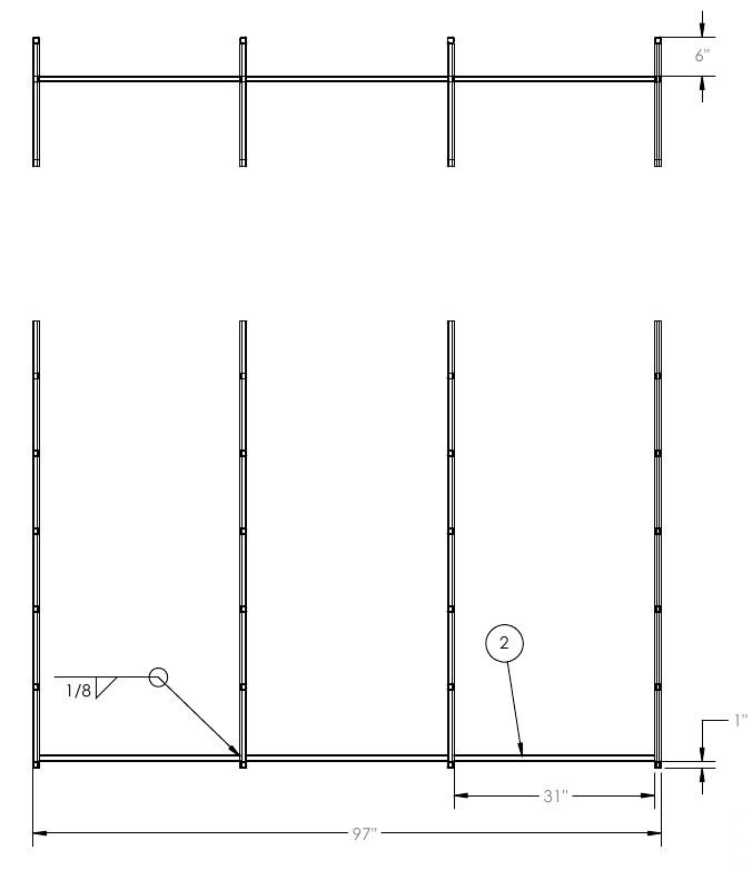 main rack weldments