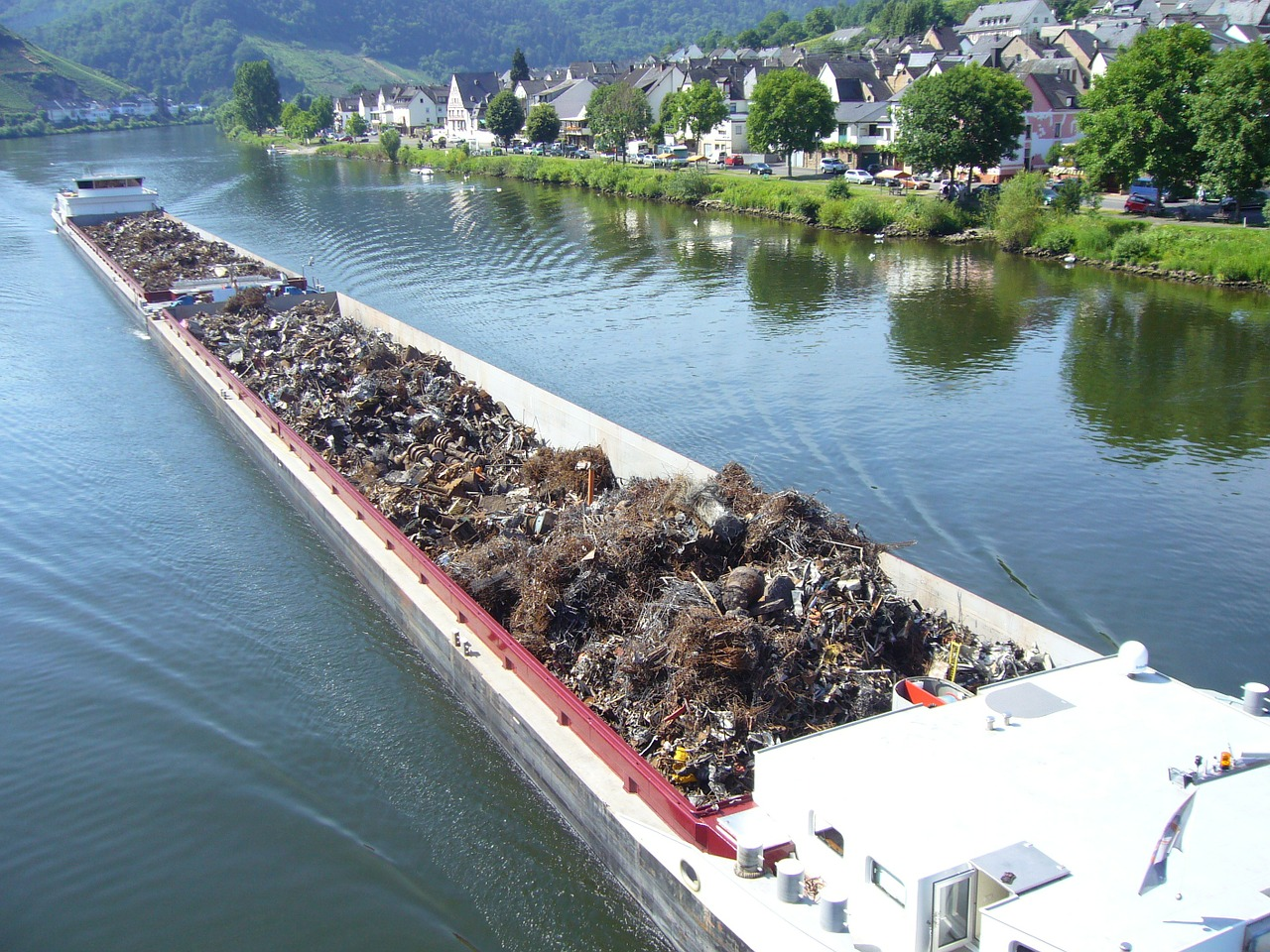 scrap metal barge