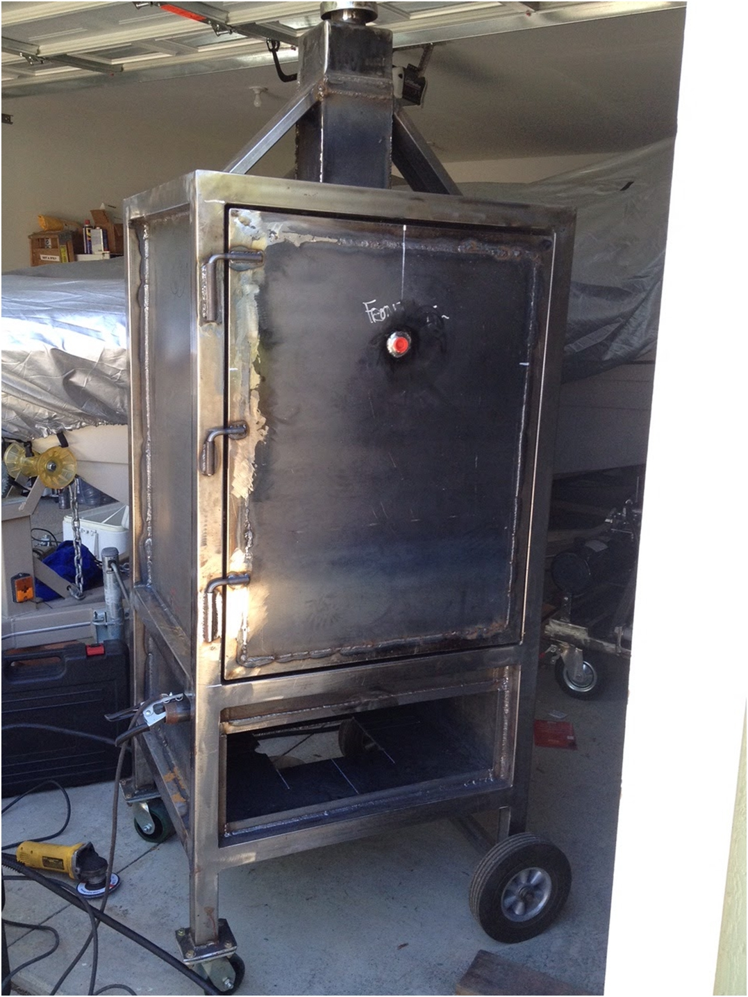 Built In Smoker Outdoor Kitchen: Smoker Build