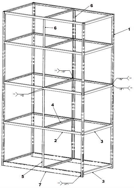 Storage Shelf Frame Weldments: