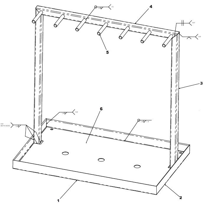 tool rack weldments