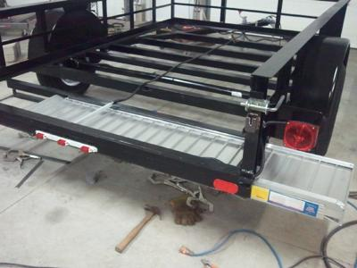 utility trailer hidden ramps