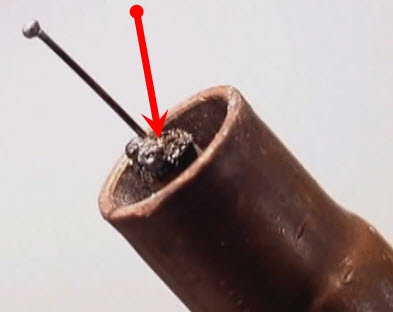 contact tip weld spatter