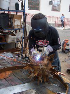 welding outside