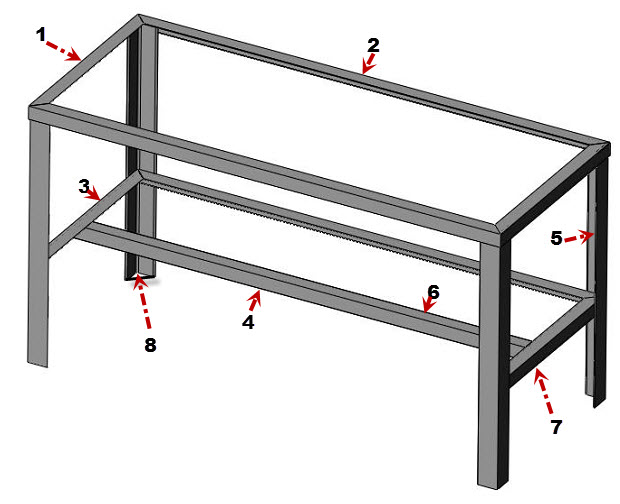 metal work table plans
