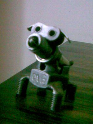 miniature scrap metal dog