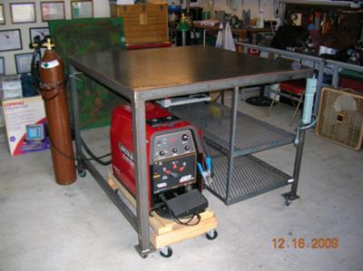 homemade welding table