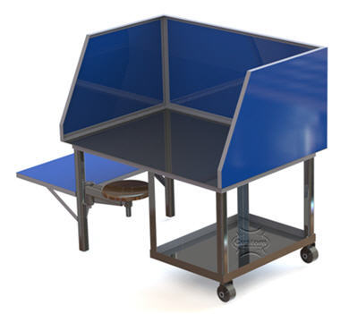 welding table with chair