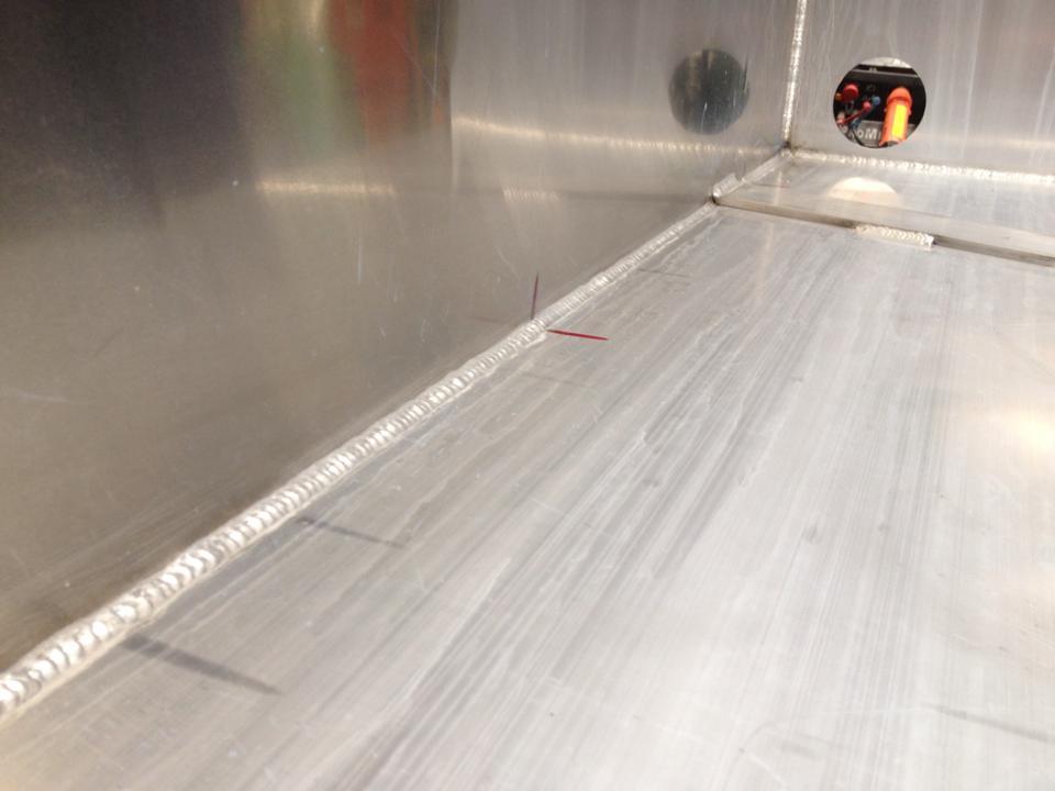 mig welding aluminum container