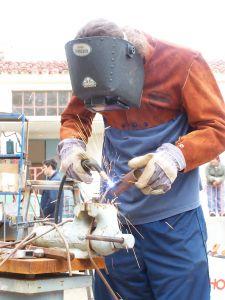 mig welding art project