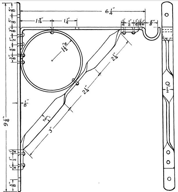 decorative metal shelf bracket