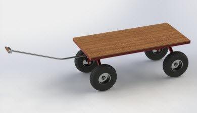 simple modern garden cart