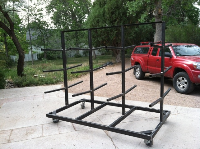 steel mobile wood rack