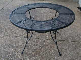 table without fire pit