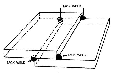 tack welding lap joint