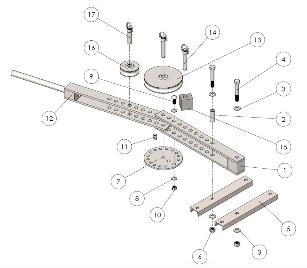 Bench top tube bending plan