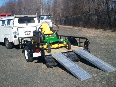 completed utility trailer